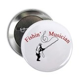 "Fishin Musician 2.25"" Button (10 pack)"