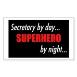 Superhero Secretary Rectangle Decal