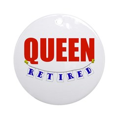 Retired Queen Ornament (Round)