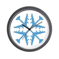 B-52 Aviation Snowflake Wall Clock