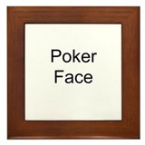 Poker Face Framed Tile