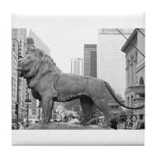 The Art Institute Lions Tile Coaster