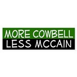 More Cowbell, Less McCain car sticker
