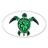 Tribal Turtle Oval Sticker (50 pk)