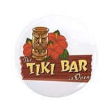 Tiki Bar is Open II - 3.5&quot; Button