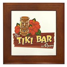 Tiki Bar is Open II - Framed Tile