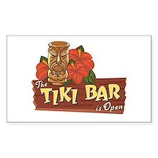 Tiki Bar is Open II - Rectangle Decal