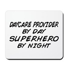 Daycare Provider Superhero Mousepad