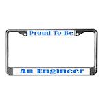 Proud Engineer License Plate Frame