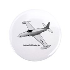 "F-80 Shooting Star 3.5"" Button"