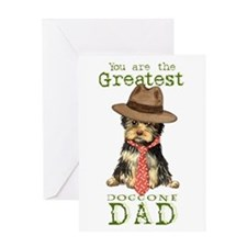 Yorkie I Love Dad Greeting Card