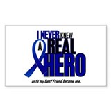 Never Knew A Hero 2 Blue (Best Friend) Decal