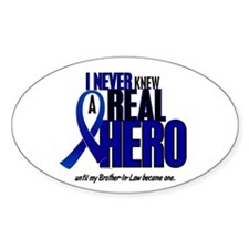 Never Knew A Hero 2 Blue (Brother-In-Law) Decal