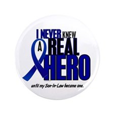 "Never Knew A Hero 2 Blue (Son-In-Law) 3.5"" Button"