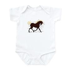 Rocky Mountain Horse Anatomy Infant Bodysuit