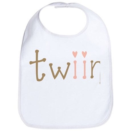 Twin Girls Twiin Bib