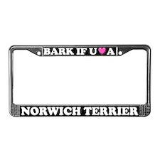 Bark Norwich Terrier License Plate Frame
