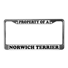 Property Of A Norwich Terrier License Plate Frame
