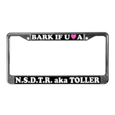 Bark If You Love A Toller License Plate Frame