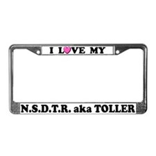 I Love My Toller License Plate Frame