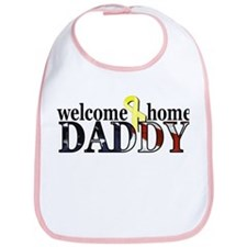 Flag: Welcome Home Daddy Bib