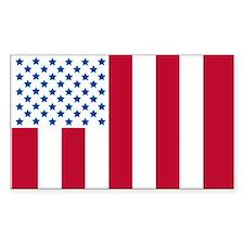 "US Civilian ""Peace"" Flag Decal"