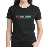 I heart Belgian Sheepdogs Women's Blue T-Shirt
