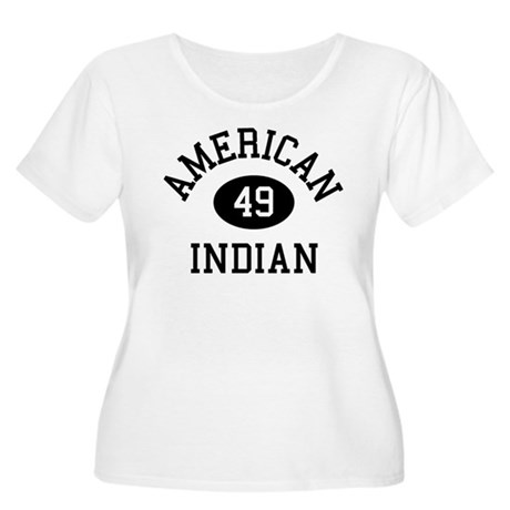 Retro American Indian Women's Plus Size Scoop Neck