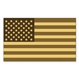 US Flag (Desert Sand) Rectangle Bumper Stickers