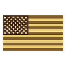 US Flag (Desert Sand) Rectangle Decal