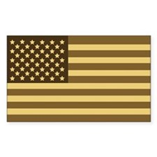US Flag (Desert Sand) Rectangle Stickers