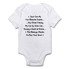 Tax Rebate Money Infant Bodysuit