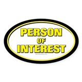 Person of Interest... Oval Decal