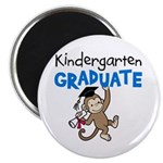 Kindergarten Graduate - Monkey (Blue) Magnet