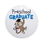 Preschool Graduate - Monkey (Blue) Ornament (Round