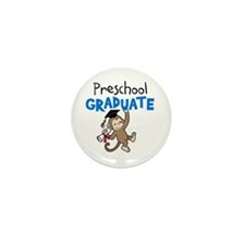 Preschool Graduate - Monkey (Blue) Mini Button (10