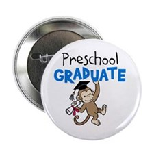 "Preschool Graduate - Monkey (Blue) 2.25"" Button (1"