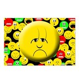 Sad Mood Smiley Postcards (Package of 8)