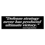 &quot;General Douglas MacArthur Quote&quot; Bumper Bumper Sticker