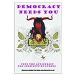 Large Poster, democracy needs you