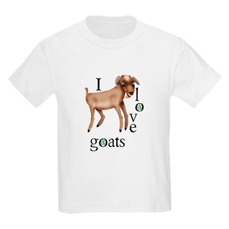 I Love Goats Kids Light T-Shirt