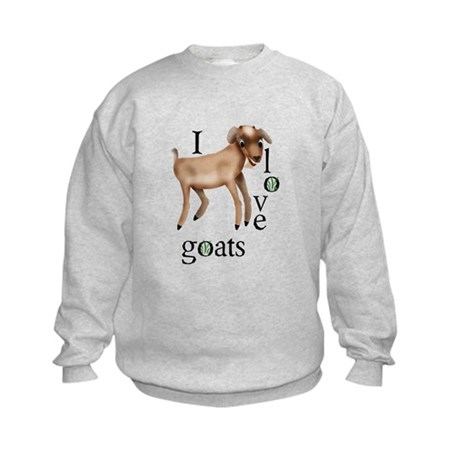I Love Goats Kids Sweatshirt