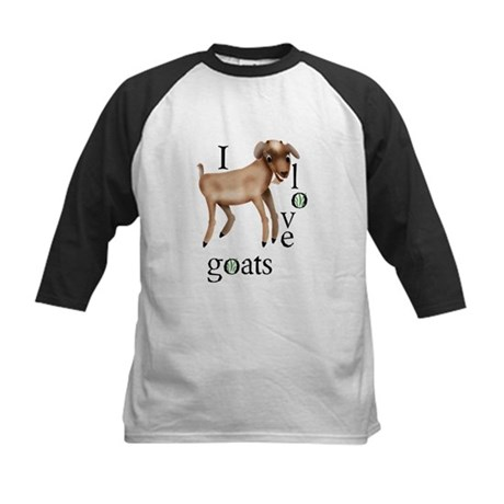 I Love Goats Kids Baseball Jersey