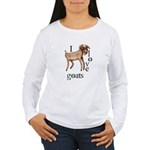 I Love Goats Women's Long Sleeve T-Shirt