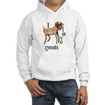 I Love Goats Hooded Sweatshirt