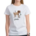 I Love Goats Women's T-Shirt
