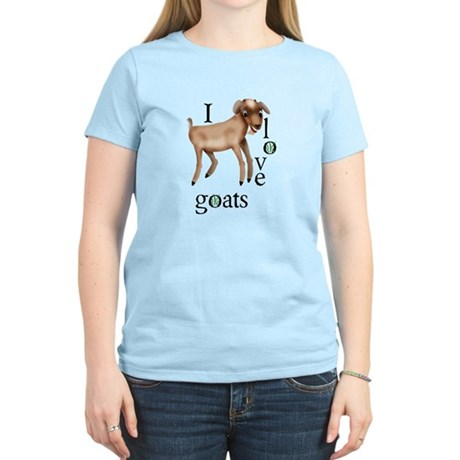 I Love Goats Women's Light T-Shirt