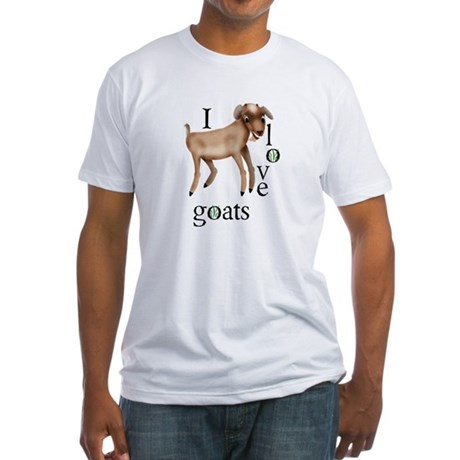 I Love Goats Fitted T-Shirt