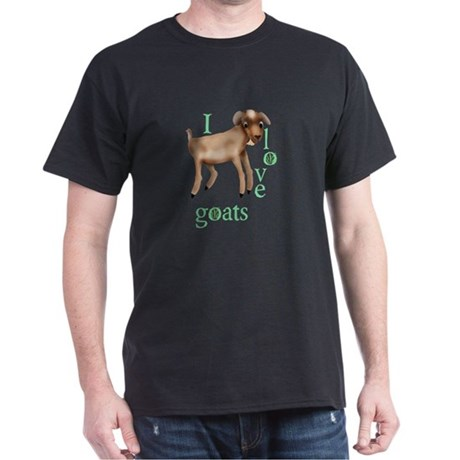 I Love Goats Dark T-Shirt
