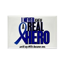 Never Knew A Hero 2 Blue (Wife) Rectangle Magnet